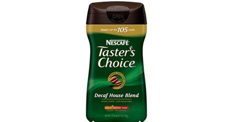 This shows that people vary the amount of coffee powder they use for their drink. Nescafe Decaf Instant Coffees   Truth In Advertising