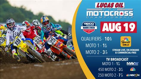 lucas oil pro motocross live timing how to watch budds creek direct motocross canada