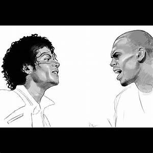 Such an amazing drawing of Michael Jackson and Chris Brown ...