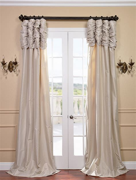 savings on ruched faux silk taffeta curtain and drapes