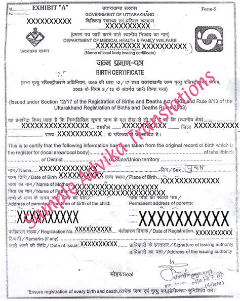 Birth Certificate Translation From To To Translation Of Birth Certificate For