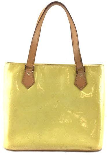 louis vuitton houston  tote zip zipper top yellow