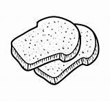 Toast Coloring Breads Dreamstime Children Illustrations Vectors Cartoon Clipart sketch template