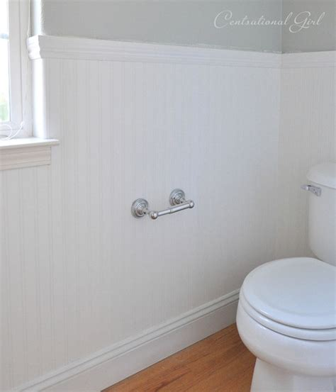 Bathroom Beadboard Installation by Installing Beadboard Wallpaper Centsational Style