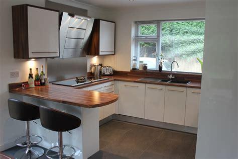 gloss kitchen ideas gloss white slab wood effect laminate worktop hallmark