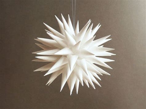 white paper christmas decorstions tree decoration ornament white paper urchin 3 inch