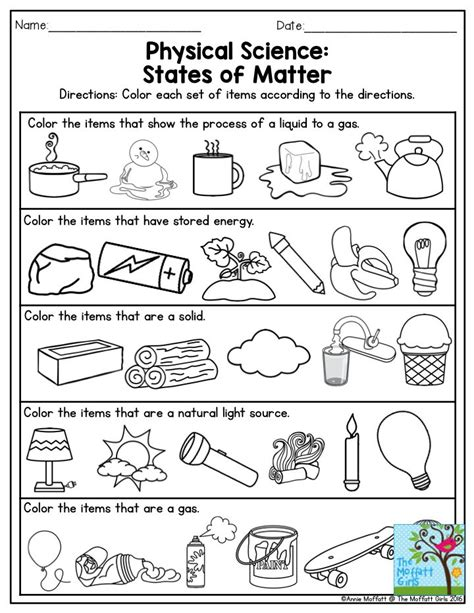 identifying states of solid matter worksheet 1000 images about science unit 1 mix make use on