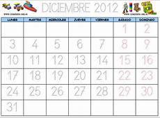 Imprimir calendario infantil diciembre 2012