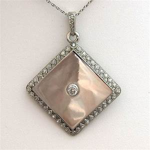Pendentif porte photo 225 bijoux platine diamants for Bijoux porte photo