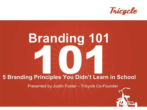 Branding 101  5 Things About Branding You Didn't Learn In