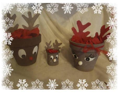 bricolage deco de noel pot de fleur renne de noel activit 233 manuelle et bricolage pour enfant noel expo