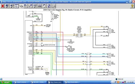 Need Stereo Wiring Diagram For Chevy Impala