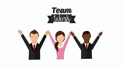 Teamwork Icon Animation Clip Cooperation Support Agreement