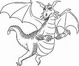 Dragon Coloring Wyvern Baby Pages Train Drawings Template sketch template
