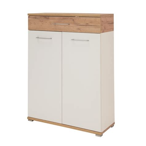 zanotti wooden shoe cabinet  white  oak   doors