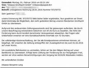 Unbeglichene Rechnung : warnung e mail von inkasso giropay 24 gmbh erhalten dann vorsicht mimikama ~ Themetempest.com Abrechnung