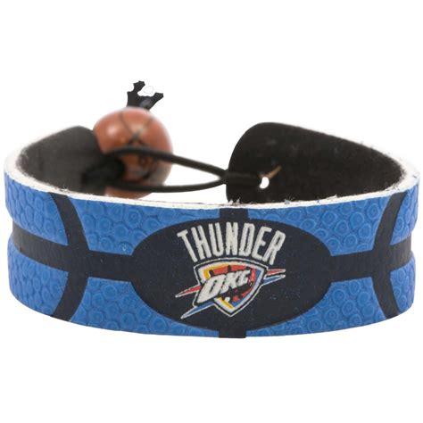 oklahoma city thunder colors oklahoma city thunder team color basketball bracelet