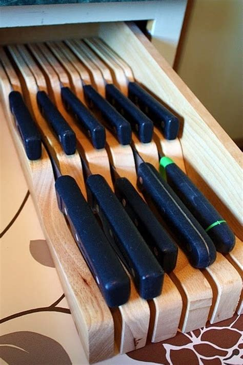 drawer knife block clever ideas for storing your kitchen knives the owner