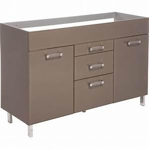 Meuble Sous Evier 120 : meuble salle de bain 140 cm double vasque 8 meuble sous ~ Nature-et-papiers.com Idées de Décoration