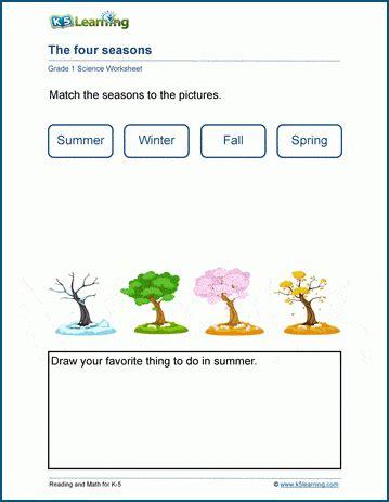 seasons worksheet  learning