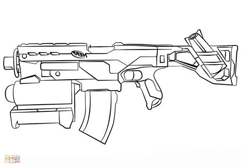 Gun Coloring Pages F5to Nerf Gun Coloring Page Free
