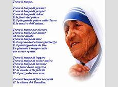 Trova il tempodi Madre Teresa di Calcutta Parrocchia San Gabriele dell'Addolorata Bari