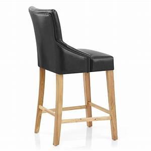 Chaise De Bar Bois : chaise de bar faux cuir bois magna monde du tabouret ~ Dailycaller-alerts.com Idées de Décoration