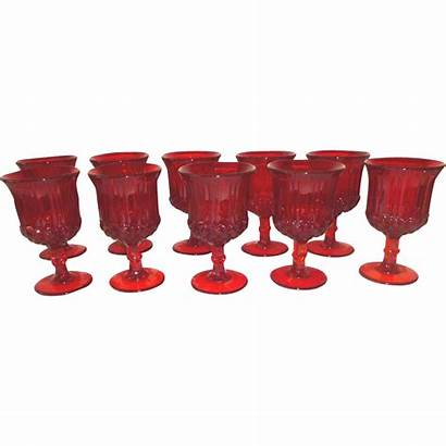 Ruby Water Wright Goblets