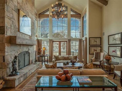 ellegant two story living room decorating ideas