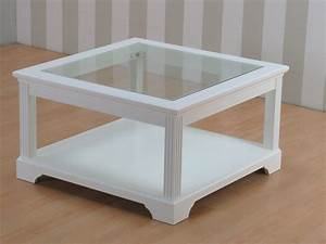 Tisch Weiß Holz : couchtisch charlot glas holz wohnzimmer tisch beistelltisch wei teilmassiv m bel wohnen tische ~ Indierocktalk.com Haus und Dekorationen
