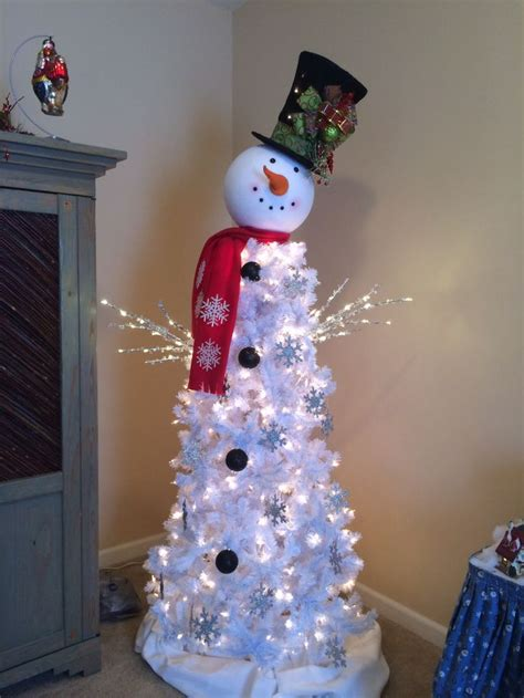 unique snowman tree ideas  pinterest xmas tree