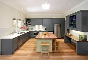 Gray Kitchen Cabinets With White Countertops for Large ...