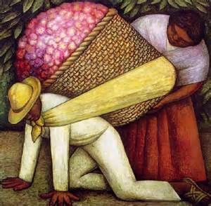 the flower carrier by diego rivera