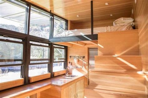 Atlas Tiny House Comes With Its Own Fold-down Patio Bar