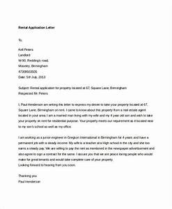 95 best free application letter templates samples pdf With cover letter for rental application template