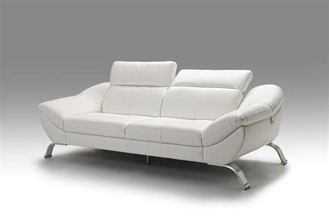 canape blanc cuir meuble canap en cuir blanc italien sofamobili