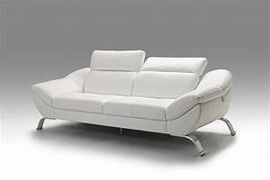 Meuble canap en cuir blanc italien SOFAMOBILI