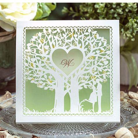30pcs Glossy Pearl Paper Romantic Tree Heart Wedding