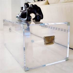 lucite trunk coffee table lucite and brass trunk coffee With acrylic chest coffee table