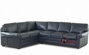 Montreal leather true sectional by savvy is fully for Sectional leather sofa montreal
