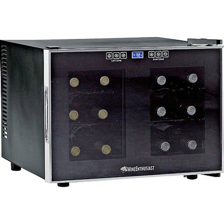 countertop wine cooler wine enthusiast 12 bottle dual zone free standing