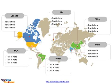 world map  powerpoint templates  powerpoint