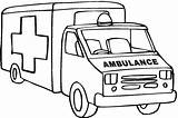 Ambulance Coloring Pages Printable Clipart Truck Outline Drawing Cartoon Fire Cliparts Sketch Template Sound Dodge Lifted Webstockreview Cars Angel Getcolorings sketch template