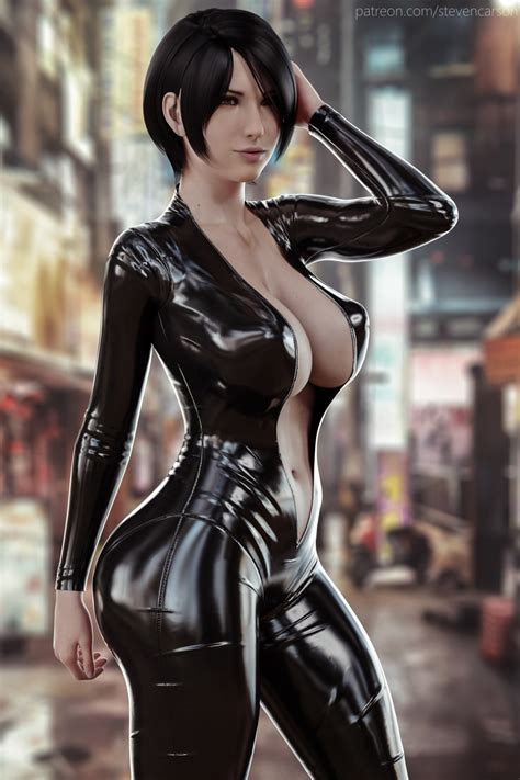 rule 34 1girls 3d absurdres ada wong big breasts bimbo breasts cleavage female female only