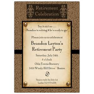 graduation announcement templates snakeskin antique retirement invitations paperstyle
