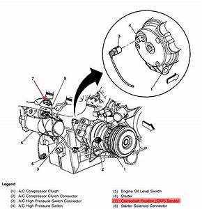 Where Is The Crankshaft Position Sensor Located On A 2003
