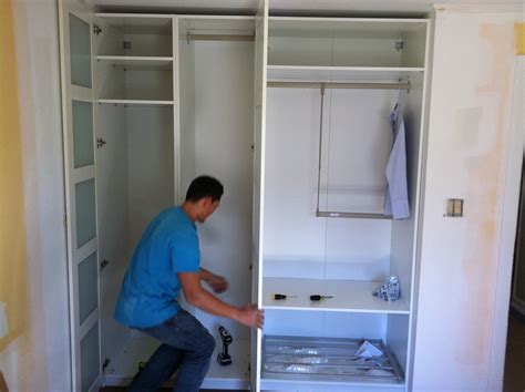 Hemnes Linen Cabinet by Pax Wardrobe Turned Custom Reach In Closets Ikea Hackers