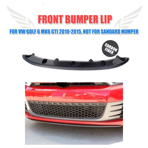 carbon fiber front center lip kits fit for vw golf 6 vi