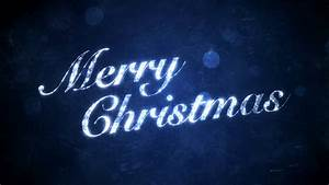 Merry Christmas on Blue - HD Background Loop - YouTube  Merry