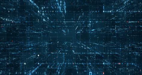 digital binary code background loop stock footage video